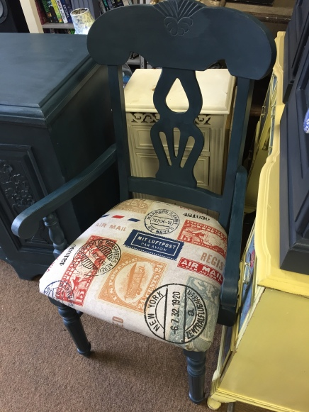 An up-cycled chair