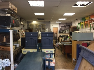 A view into the store from the entrance
