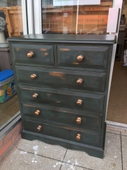 An up-cycled chest of drawers